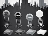 Black and White City Silhouette PowerPoint Template#8