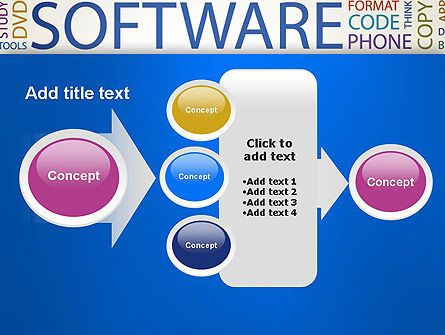 Software Word Cloud PowerPoint Template Slide 17