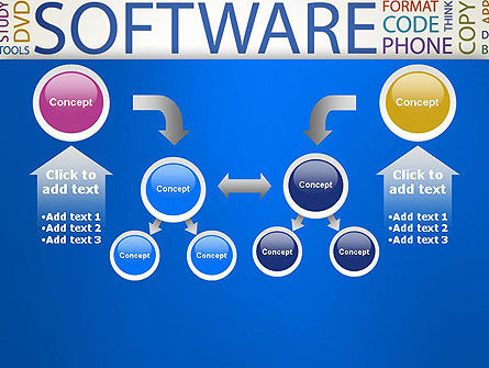Software Word Cloud PowerPoint Template Slide 19