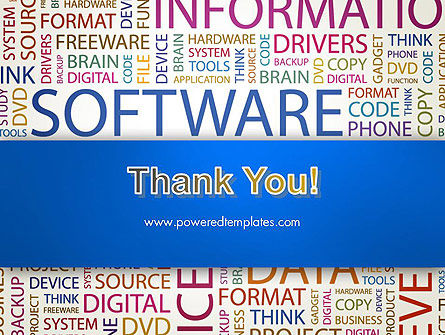 Software Word Cloud PowerPoint Template Slide 20