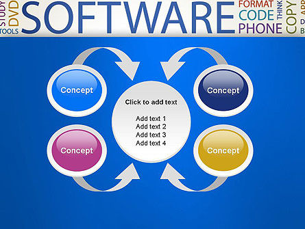 Software Word Cloud PowerPoint Template Slide 6
