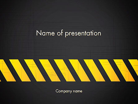 Under Construction Sign PowerPoint Template, 13299, Construction — PoweredTemplate.com