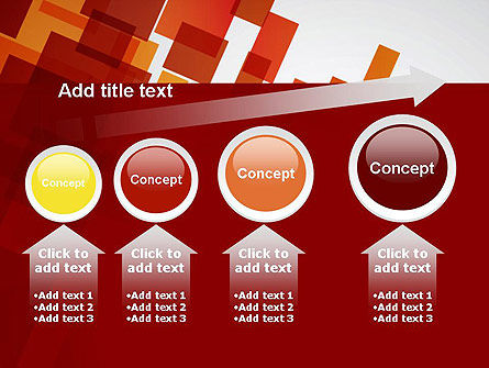 Red Overlapping Squares PowerPoint Template Slide 13