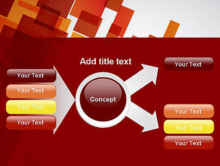 Red Overlapping Squares PowerPoint Template Slide 14