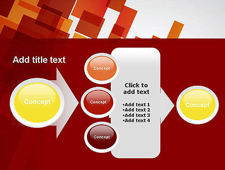 Red Overlapping Squares PowerPoint Template Slide 17