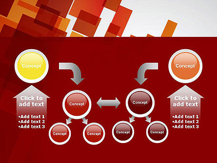 Red Overlapping Squares PowerPoint Template Slide 19
