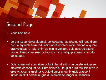 Red Overlapping Squares PowerPoint Template, Slide 2, 13300, Abstract/Textures — PoweredTemplate.com