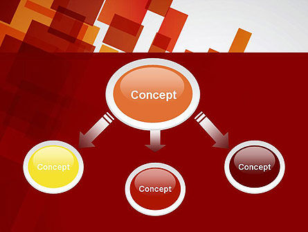 Red Overlapping Squares PowerPoint Template, Slide 4, 13300, Abstract/Textures — PoweredTemplate.com