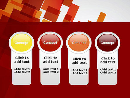 Red Overlapping Squares PowerPoint Template Slide 5