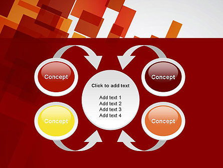 Red Overlapping Squares PowerPoint Template Slide 6