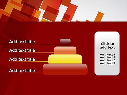Red Overlapping Squares PowerPoint Template Slide 8