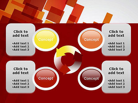 Red Overlapping Squares PowerPoint Template Slide 9