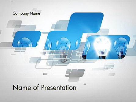 Ideation Concept PowerPoint Template, 13301, Business Concepts — PoweredTemplate.com