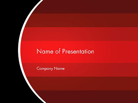 Abstract/Textures: Red Gradient PowerPoint Template #13302