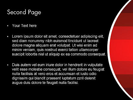 Red Gradient PowerPoint Template Slide 2