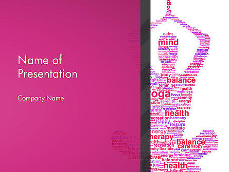 Health and Recreation: Sacred Word Cloud PowerPoint Template #13303