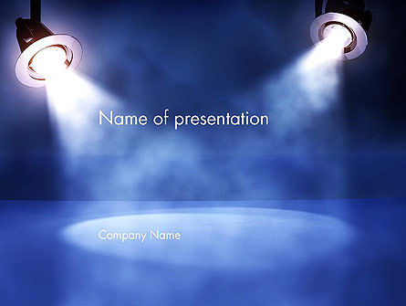 Illuminated Scene PowerPoint Template