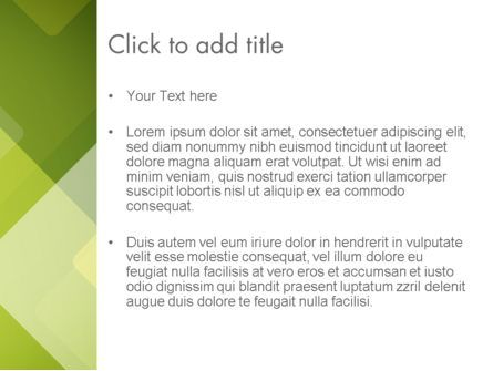 Green Overlapping Layers PowerPoint Template, Slide 3, 13305, Abstract/Textures — PoweredTemplate.com