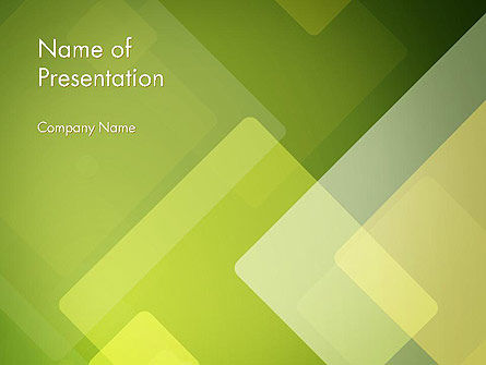 Green Overlapping Layers PowerPoint Template, 13305, Abstract/Textures — PoweredTemplate.com
