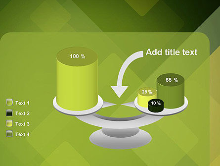 Green Overlapping Layers PowerPoint Template Slide 10