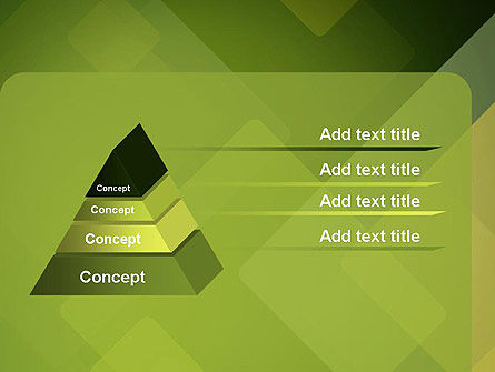 Green Overlapping Layers PowerPoint Template Slide 12
