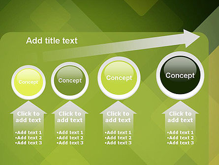 Green Overlapping Layers PowerPoint Template Slide 13