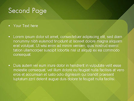 Green Overlapping Layers PowerPoint Template, Slide 2, 13305, Abstract/Textures — PoweredTemplate.com