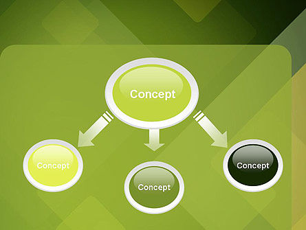 Green Overlapping Layers PowerPoint Template, Slide 4, 13305, Abstract/Textures — PoweredTemplate.com