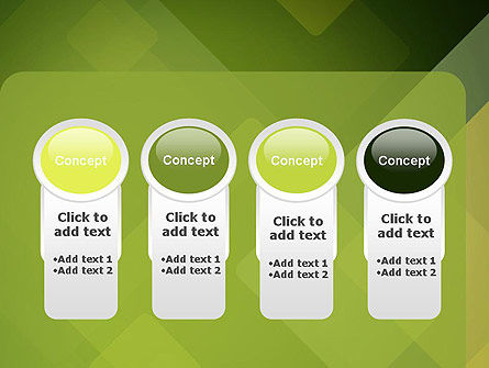 Green Overlapping Layers PowerPoint Template Slide 5
