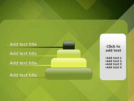 Green Overlapping Layers PowerPoint Template Slide 8