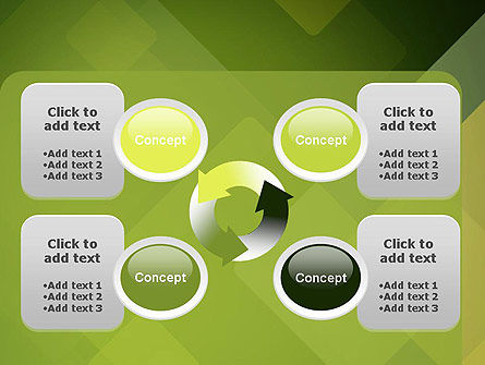 Green Overlapping Layers PowerPoint Template Slide 9