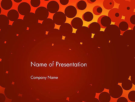 Maroon Spots on Red PowerPoint Template, 13306, Abstract/Textures — PoweredTemplate.com