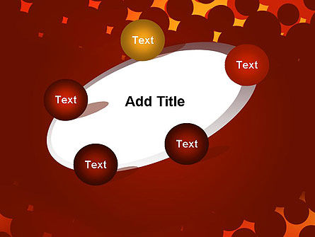 Maroon Spots on Red PowerPoint Template Slide 14