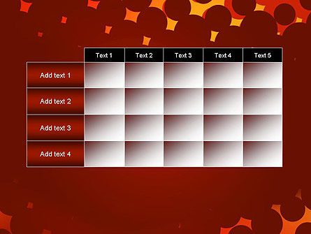 Maroon Spots on Red PowerPoint Template Slide 15