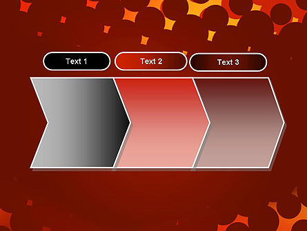 Maroon Spots on Red PowerPoint Template Slide 16
