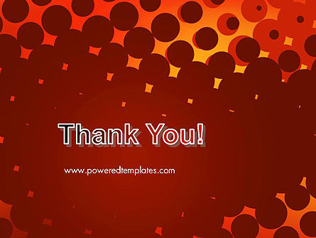 Maroon Spots on Red PowerPoint Template Slide 20