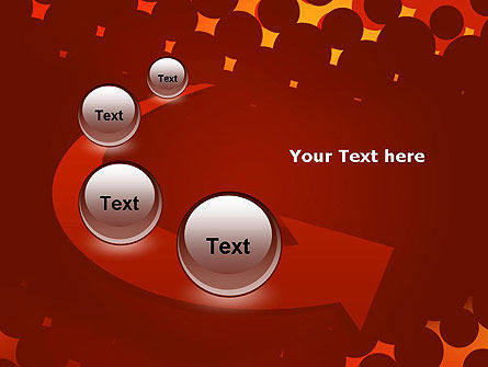 Maroon Spots on Red PowerPoint Template Slide 6