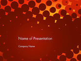 Abstract/Textures: Maroon Spots on Red PowerPoint Template #13306