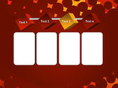 Maroon Spots on Red PowerPoint Template#18