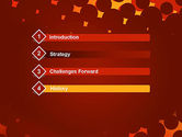 Maroon Spots on Red PowerPoint Template#3