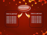 Maroon Spots on Red PowerPoint Template#4