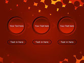 Maroon Spots on Red PowerPoint Template#5