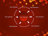 Maroon Spots on Red PowerPoint Template#7