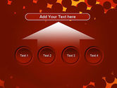Maroon Spots on Red PowerPoint Template#8
