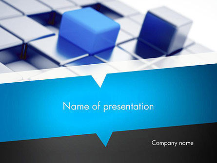 Abstract Blue Cubes PowerPoint Template, 13309, Abstract/Textures — PoweredTemplate.com