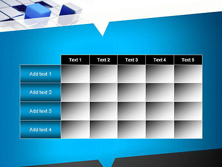 Abstract Blue Cubes PowerPoint Template Slide 15
