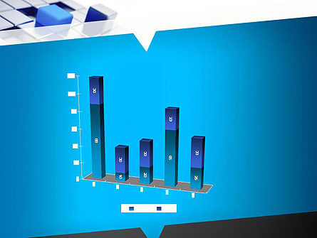 Abstract Blue Cubes PowerPoint Template Slide 17