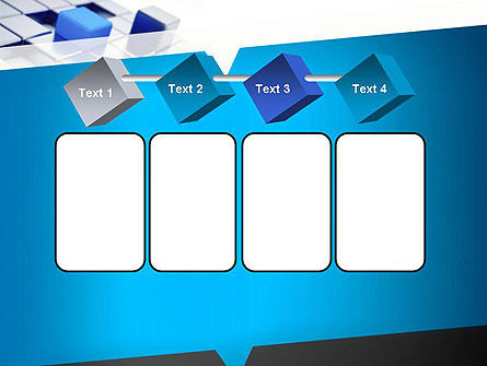 Abstract Blue Cubes PowerPoint Template Slide 18