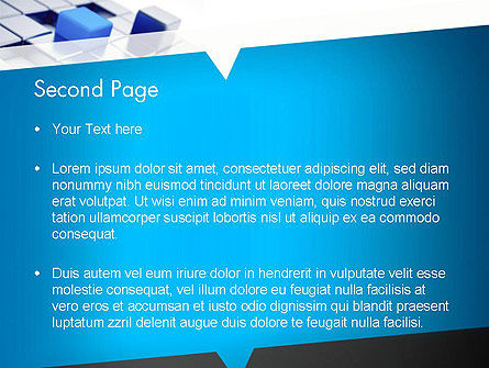 Abstract Blue Cubes PowerPoint Template Slide 2