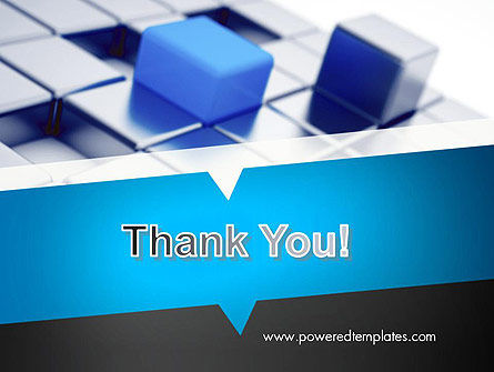 Abstract Blue Cubes PowerPoint Template Slide 20